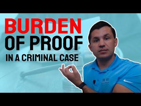 Burden of Proof in a Criminal Case