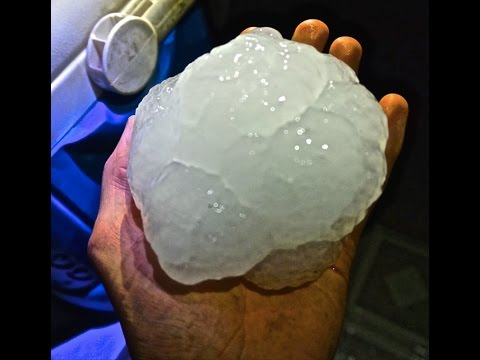 Thumbnail: INSANE GRAPE FRUIT SIZE HAIL DESTROYS HOUSE!! (Nisland SD)