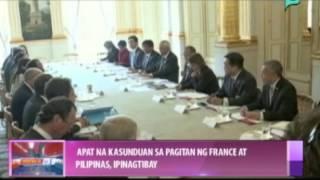 News@1: 4 na kasunduan sa pagitan ng France at Pilipinas, pinagtibay || Sept. 18, 2014