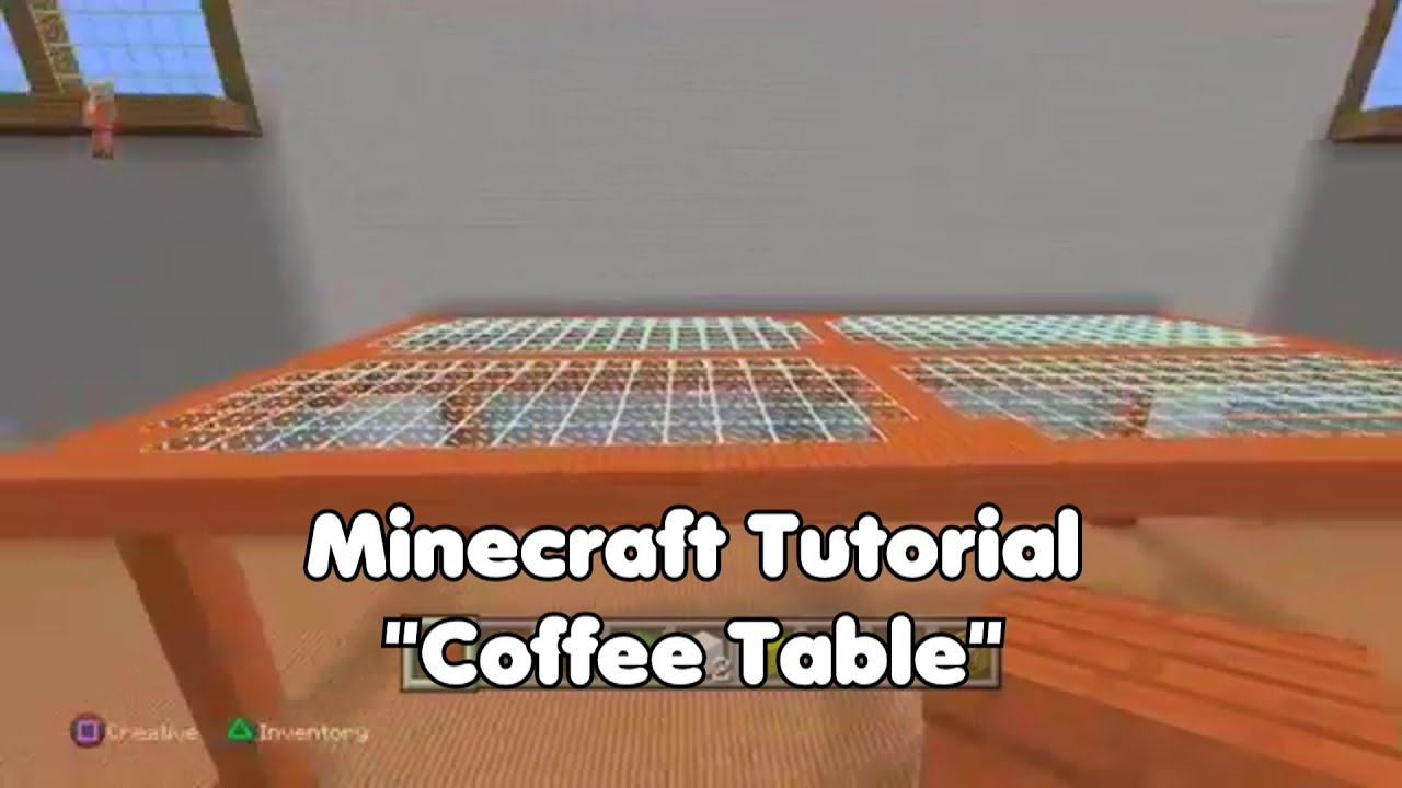 Minecraft Pixel Art Tutorial Coffee Table