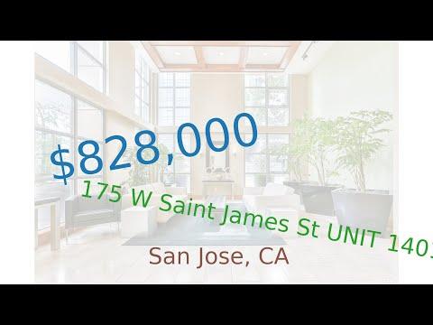 $828,000 San Jose home for sale on 2020-11-25 (175 W Saint James St UNIT 1401, CA, 95110)