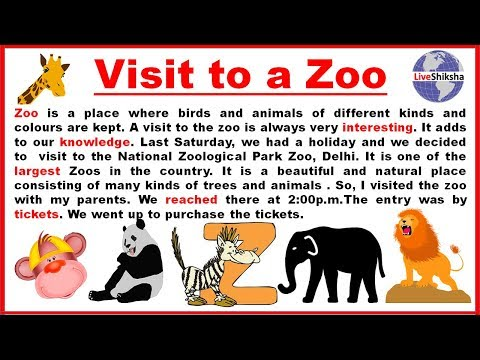 a visit to a zoo essay 250 words