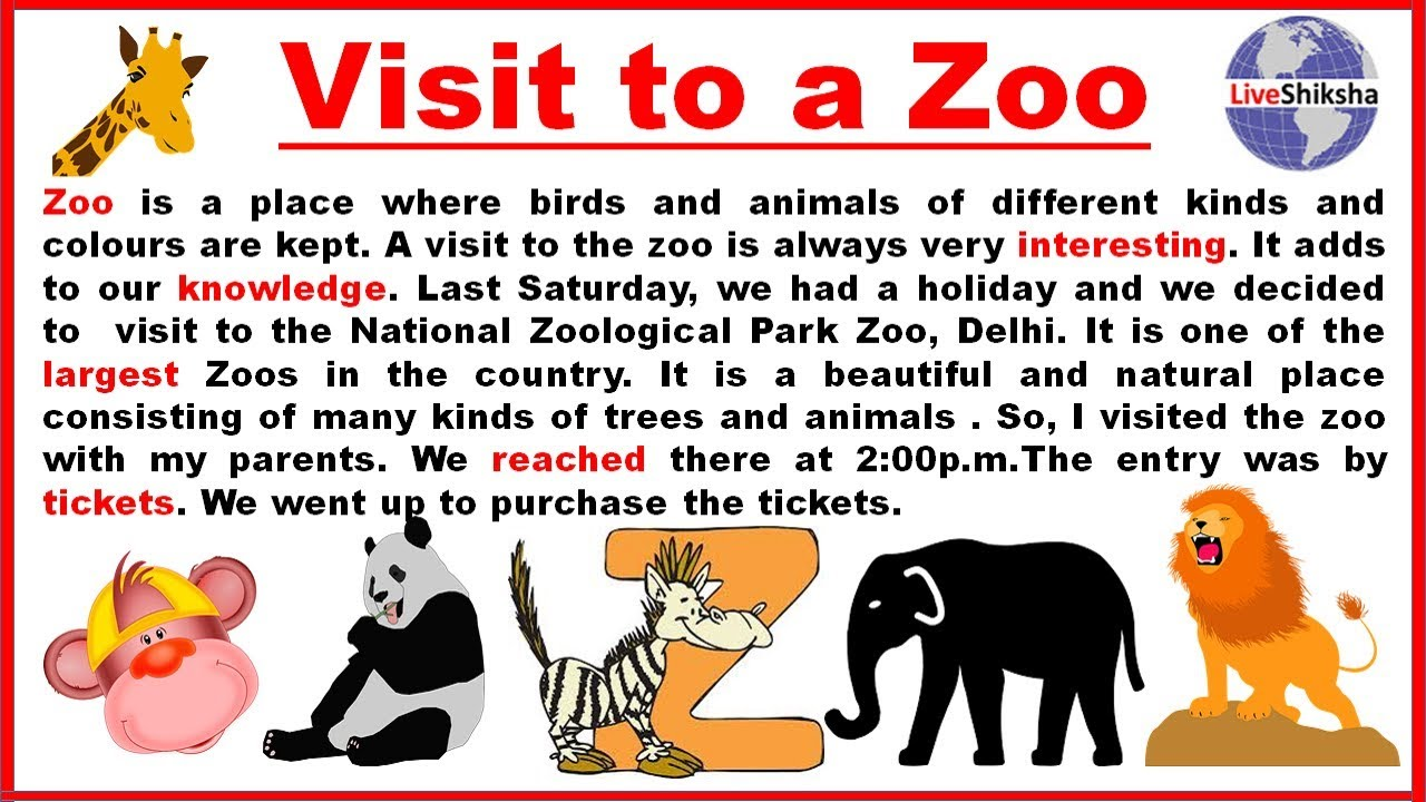 a visit to a zoo essay in english  words  youtube a visit to a zoo essay in english  words