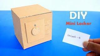 How to Make a Mini Safe Locker From Cardboard - DIY Cardbord Mini Safe Locker