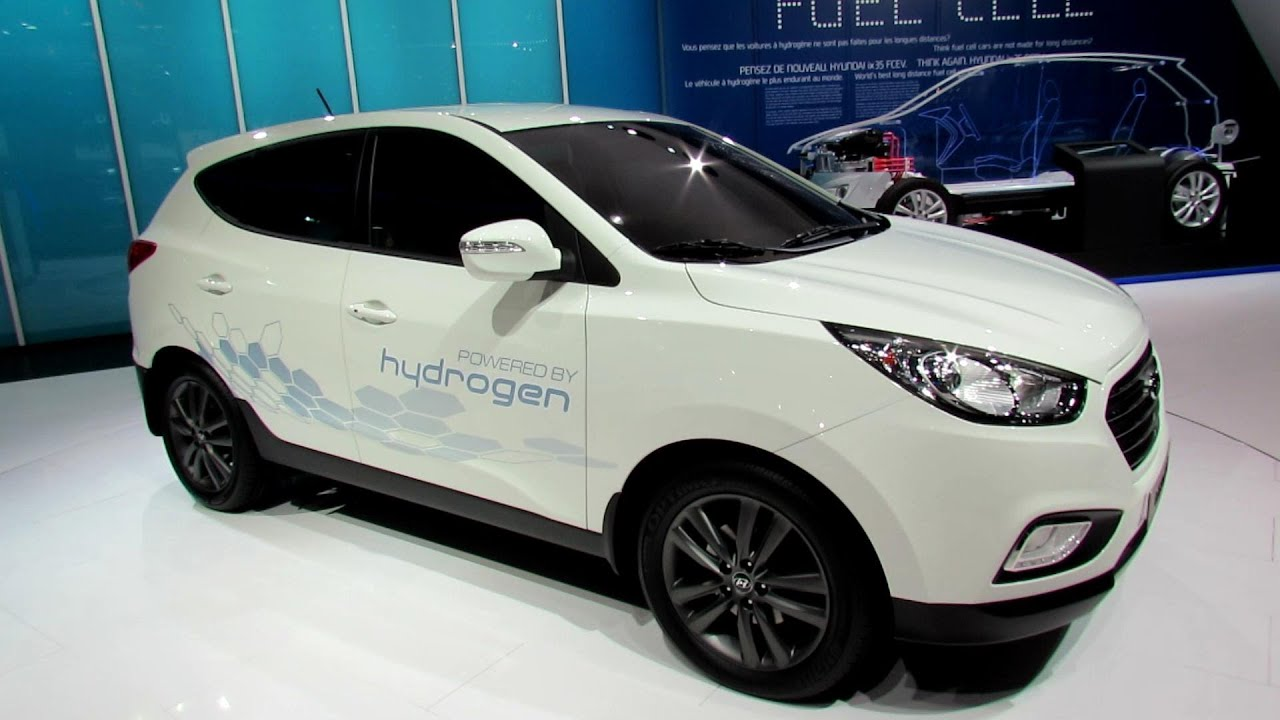 2014 hyundai ix35 fuel cell exterior walkaround 2012 paris auto show youtube. Black Bedroom Furniture Sets. Home Design Ideas