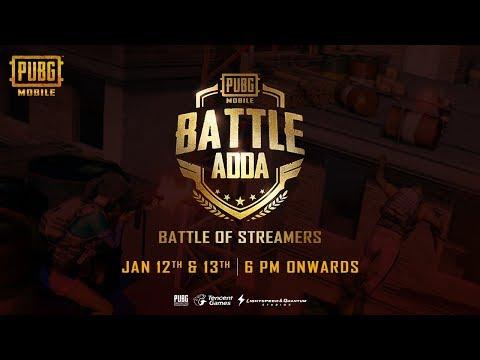 PUBGM | Battle Adda -Battle of Indian Streamers - Day 2 [MortaL vs KronTen Vs Hydra Vs Gareeboo ]