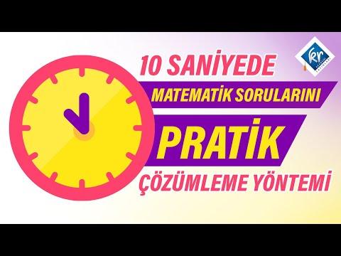 10 Saniyede Matematik Çözümleme Sorusu Pratik Yöntemi