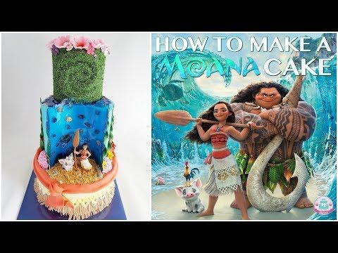 HOW TO MAKE A MOANA CAKE | Abbyliciousz The Cake Boutique