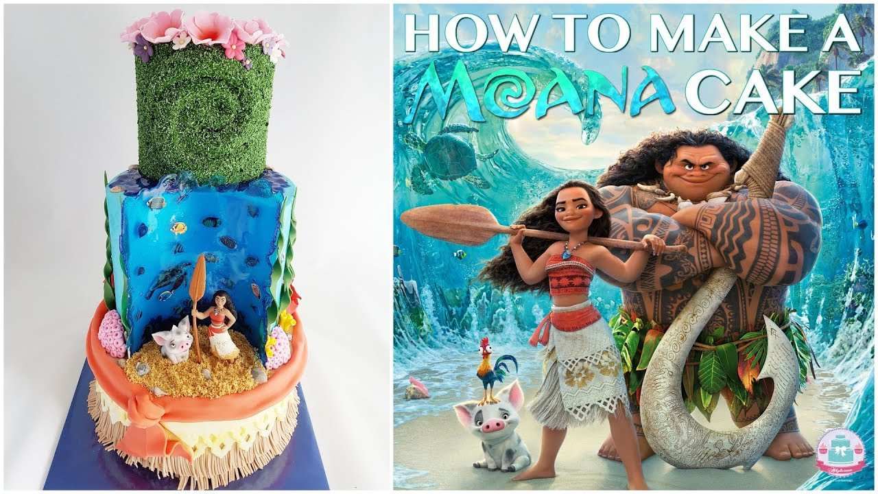 How To Make A Moana Cake Abbyliciousz The Cake Boutique Youtube
