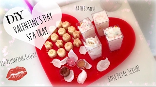 DIY Valentine's Day Spa Tray! Bath Bombs, Rose Scrub, & Lip Plumping Gloss | Nikki Stixx