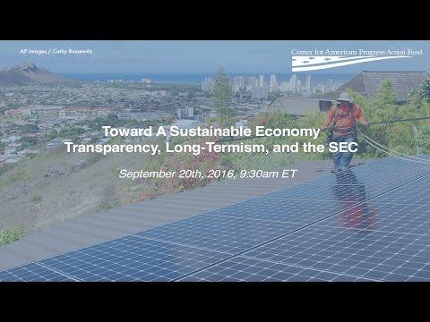 Toward A Sustainable Economy