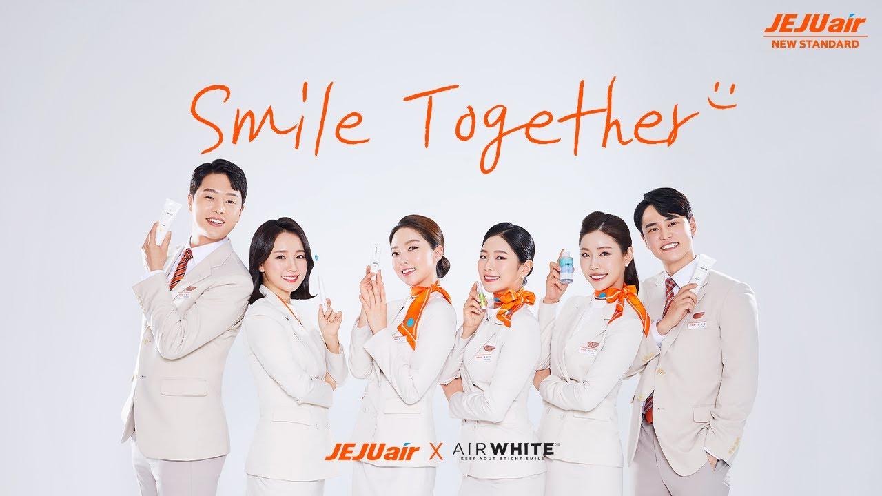 스마일 투게더😁 다시 환한 미소로 만나요🧡│ 제주항공 승무원들의 '에어화이트' 모델 촬영기