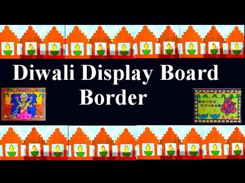 Diwali Display board designer border decoration ideas for school, home, office