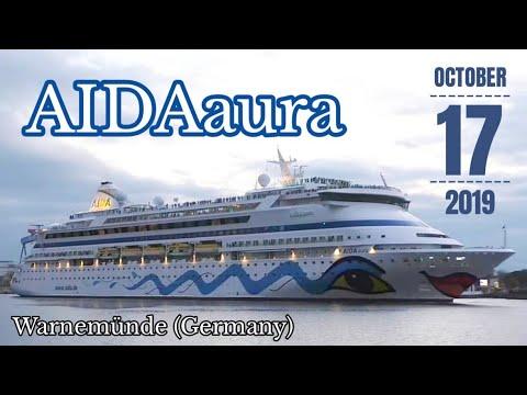 17.10.2019 AIDAaura In Warnemünde - Letztes Auslaufen 2019