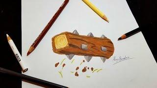 Cómo Dibujar TRONCO De CLASH ROYALE/How to Draw THE LOG Of CLASH ROYALE-MagicBocetos-Tutorial