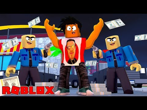 ROBLOX JAIL BREAK - DONUT GETS CAUGHT RED HANDED ROBBING A BANK!!