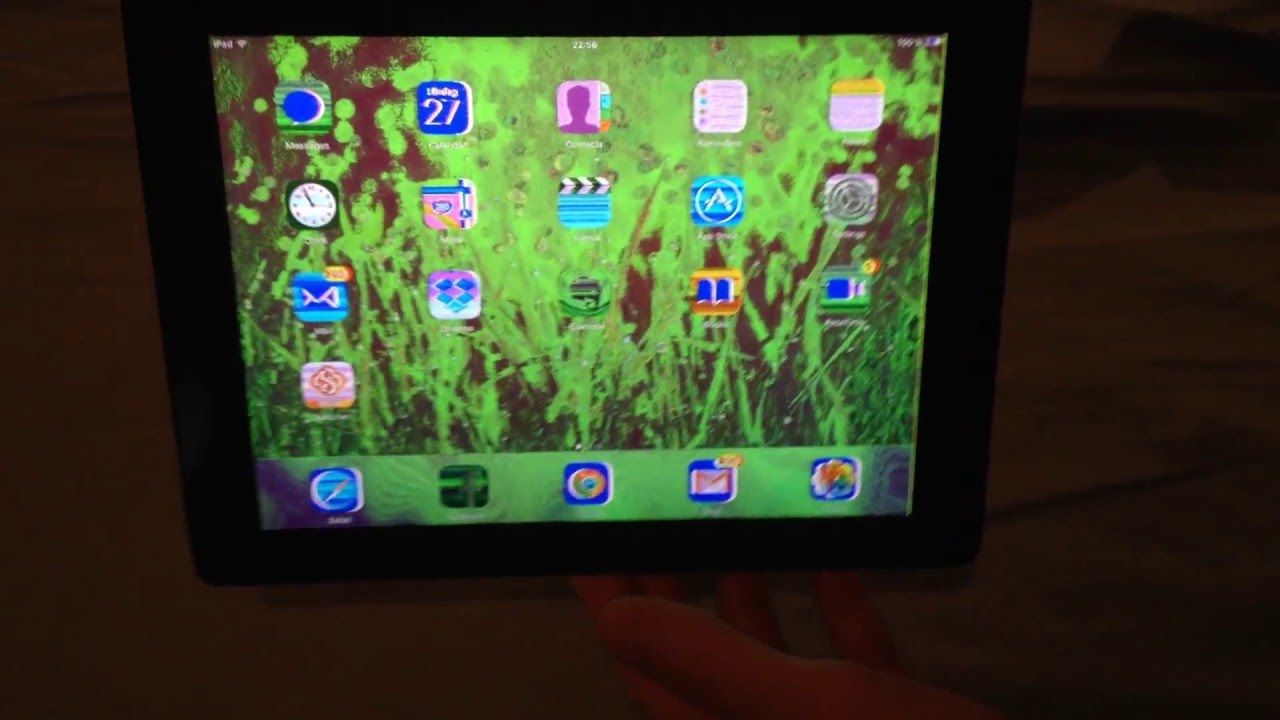change the color of your ipad screen