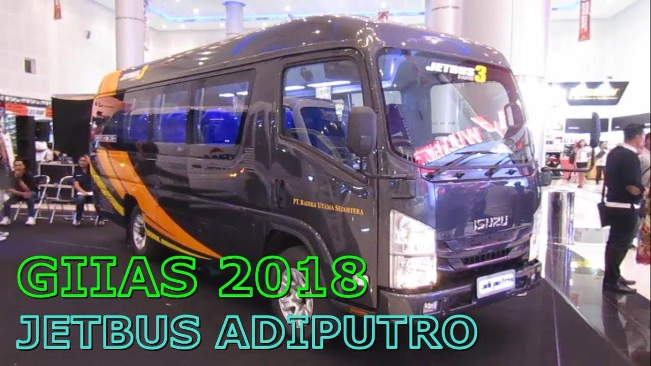 MICROBUS ISUZU ELF JETBUS 3 MC ADIPUTRO KAROSERI | INTERIOR EXTERIOR 2018  GIIAS SURABAYA