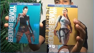 LARA CROFT TOMB RAIDER /THE CRADLE OF LIFE Limited Edition BLU RAY SteelBook Unboxing - 2 FREE CODES