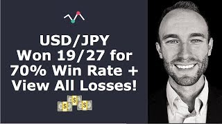 USD/JPY - 70% Win Strategy Showing ALL Wins AND LOSSES!