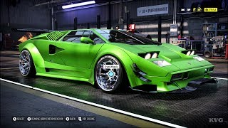 Need for Speed Heat - Lamborghini Countach 1989 - Customize | Tuning Car (PC HD) [1080p60FPS]