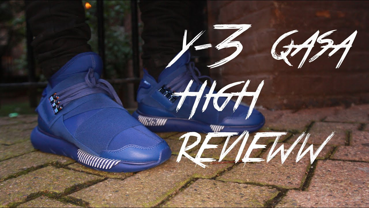 ADIDAS Y-3 QASA HIGH ROYAL BLUE REVIEW + ON FEET - YouTube 6038117fb
