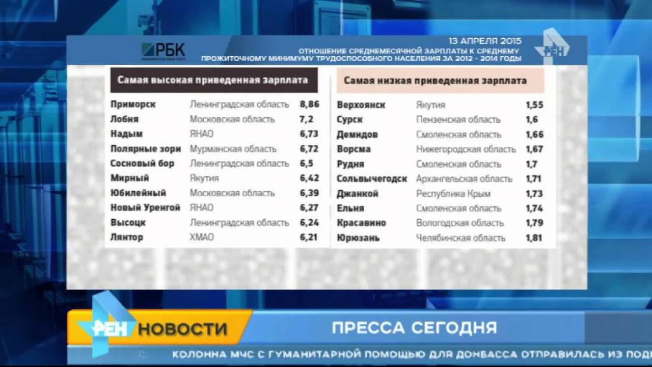 Газета РБК дейли составила список богатых и бедных городов России