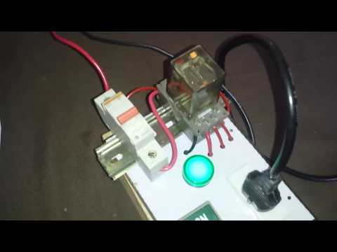 Home electrical equipment protection with hold relay circuit in Urdu