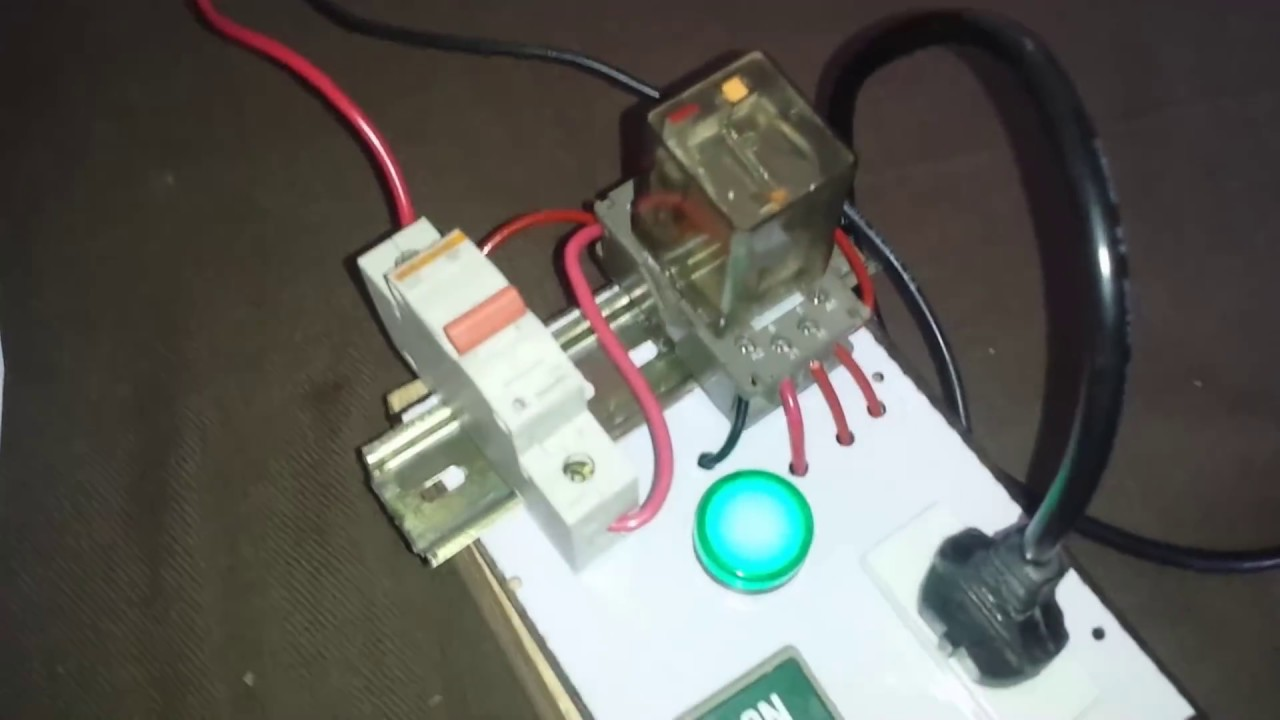 medium resolution of home electrical equipment protection with hold relay circuit in urdu