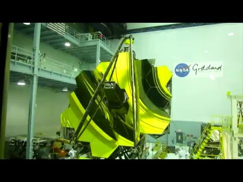 James Webb Space Telescope's Assembled Golden Mirror Is Sight To Behold | Video
