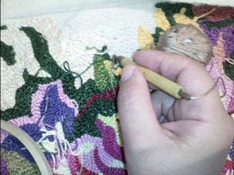 Вышивка в ковровой технике «
