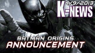 Batman Arkham Origins Announced Wii U & 3DS