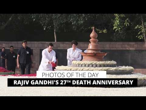 Photos Of The Day: Rajiv Gandhi's 27th Death Anniversary