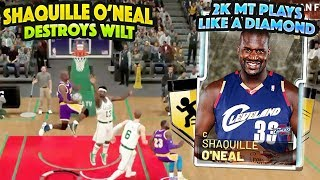 2K MT EMERALD SHAQUILLE ONEAL PLAYS LIKE A DIAMOND!! DESTROYS DIAMOND WILT! NBA 2K19