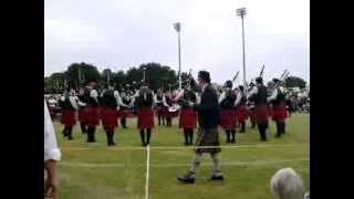 South Canterbury Highland Pipe Band Winning Grade 3 Medley in Timaru New Zealand 2013