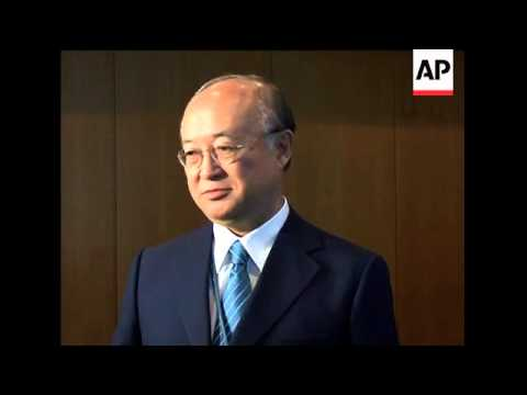 Japanese diplomat Yukiya Amano takes over as chief of UN's nuclear watchdog