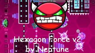 Hexagon Force v2 (hard demon) 100%   Geometry Dash 2.11