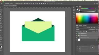 Цветная иконка в Adobe Photoshop CC 2017 (Конверт)