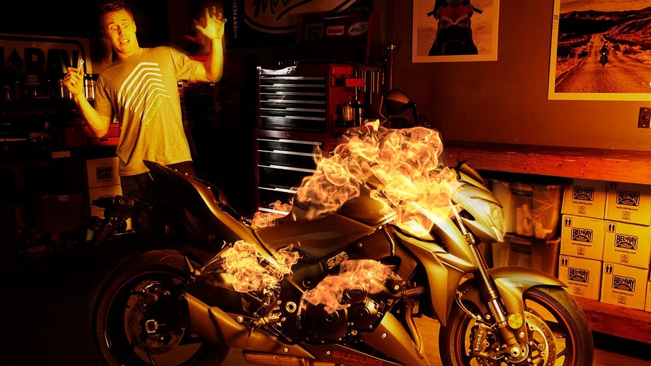 motorcycle fire pictures  How to Avoid Setting Your Motorcycle On Fire | MC Garage - YouTube