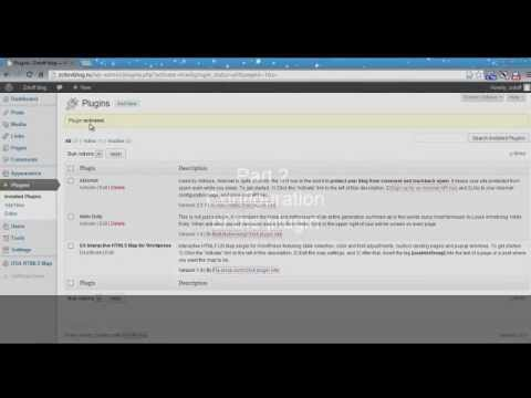 Video Instructions For Installing WordPress Plugin Interactive - Html5 us map