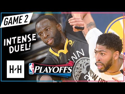 Anthony Davis vs Draymond Green EMOTIONAL Game 2 Duel Highlights 2018 Playoffs - CRAZY Scuffle!
