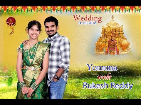 Yomuna weds Rukesh Reddy
