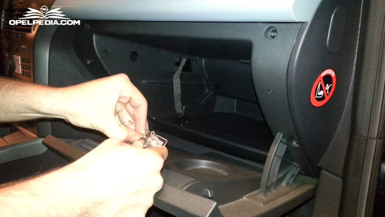 opel astra h tutorial  replace glove compartment light