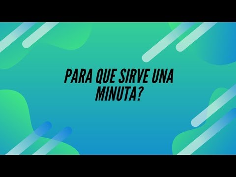 Download PARA QUE SIRVE UNA MINUTA...USALA!