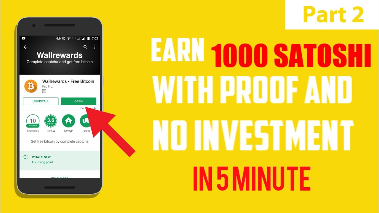 Earn 1000 satoshi every 5 minute with this App | Widthrawal Proof | And  Earning Proof | Wallrewards