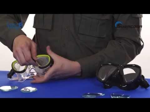 b46c740e1a Tutorial montaje de lentes graduadas en máscara de buceo -  www.cascoantiguo.com - YouTube