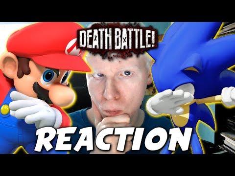 Mario VS Sonic (Nintendo VS Sega) | DEATH BATTLE! REACTION!