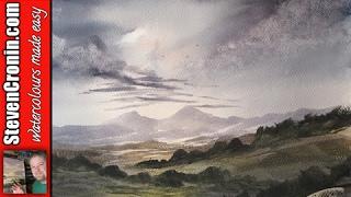 Beinn Bhan, Highlands watercolour painting lesson