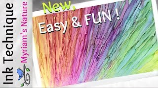60] NEW Alcohol Ink TECHNIQUE - SILKY Texture - Makes Great Card BACKGROUNDS - No Gloves