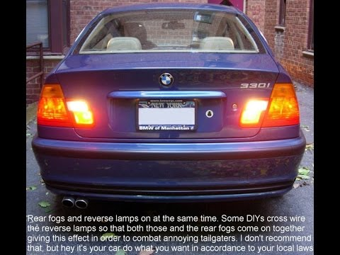 Bmw E46 330i Sedan Dual Euro Rear Fog Lights Diy